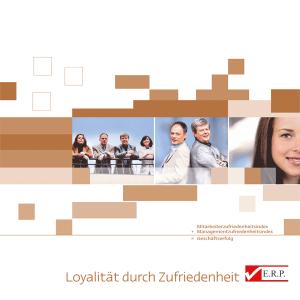 Broschüre: Loyalität durch Zufriedenheit